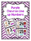 Purple Chevron Line up Numbers