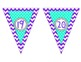 Purple Chevron Number Line Banner ~ Numbers 1 - 200