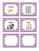 52 Purple Chevron Supplies Labels