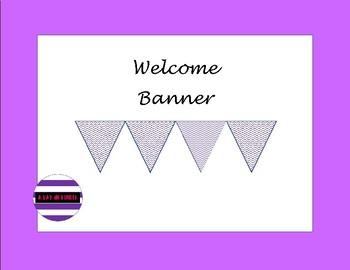 Purple Chevron Welcome Banner