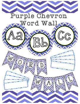 Purple Chevron Word Wall
