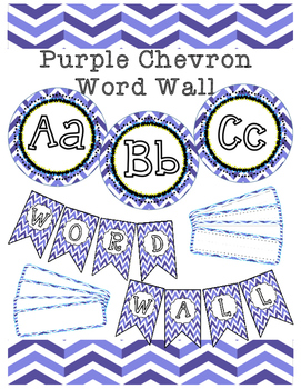 Purple Chevron Word Wall