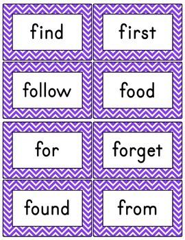 Purple Chevron Word Wall (With Editable PDF) with Headers