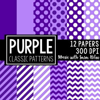 Purple Classic Designs- 12 Digital Papers