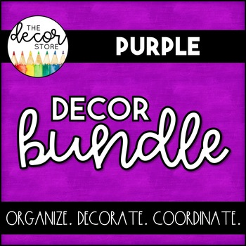 Purple Classroom Decor