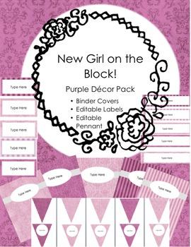 Purple Classroom Decor Pack