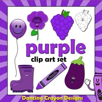 Purple Clip Art - Color Clipart Series Set 6