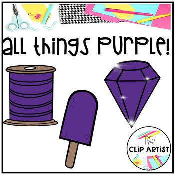 Purple Color Objects Clip Art