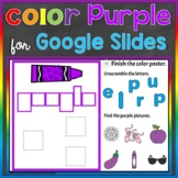 Purple Color Recognition Color Word Google Slides Distance