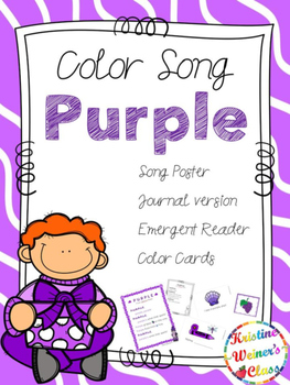 Purple Color Song {A Mini-Unit}