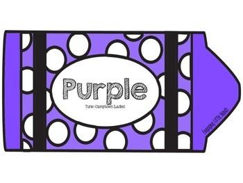 Purple Color Song Crayon Book