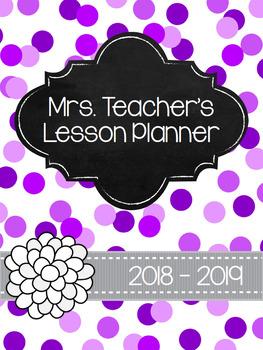 Purple Confetti Planner *EDITABLE*