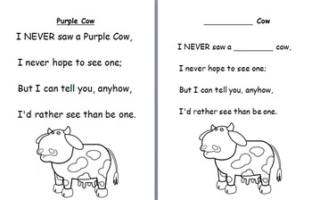 Purple Cow Poem