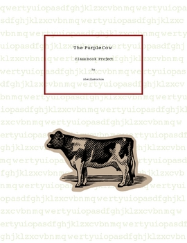 Purple Cow Poem Class Book