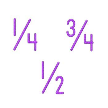 Alphabet Clip Art Purple Crayon Look  Numerals, Punctuation Marks & Math Symbols