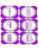 Cute Purple Number Labels