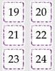 Purple Damask Calendar Kit: Headers and Date Cards