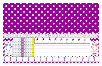 Purple Desk Tag