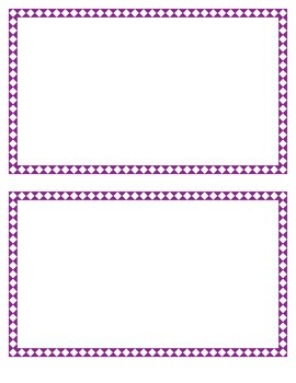 Purple Diamond Border Set