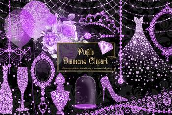 Purple Diamond Clipart