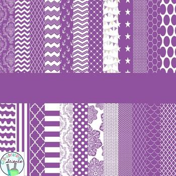 Purple Digital Paper Bundle