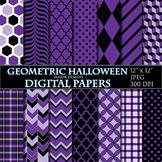 Halloween Digital Papers Purple Digital Papers Geometric S