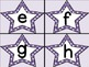 Purple Dot Star Alphabet Letter Flashcards