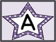 Purple Dot Star Alphabet Letter Posters