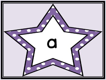 Purple Dot Star  Dolch Pre-Primer Sight Word Flashcards and Posters