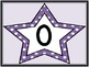 Purple Dot Star Full Page Number Posters 0-100