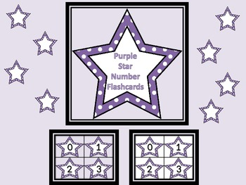 Purple Dot Star Number Flashcards 0-100