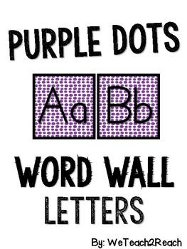 Purple Dots Word Wall Letters