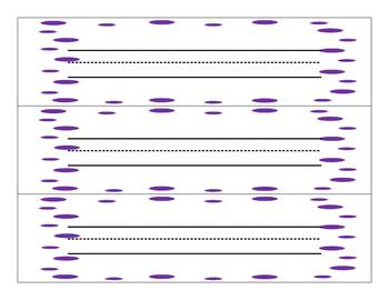 Purple Dots Word Wall Words