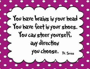 5 Purple - Dr. Seuss Quote decor