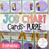 Purple Editable Job Chart Cards