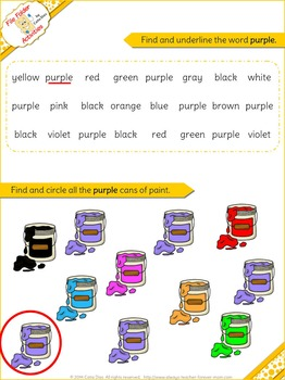 Purple - File Folder Activity Set