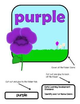 Purple File Folder Game