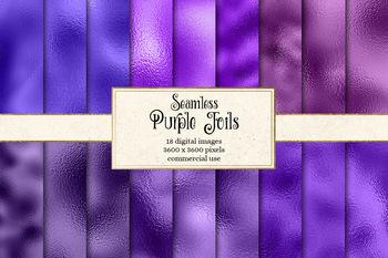 Purple Foil Digital Paper, seamless metallic textures