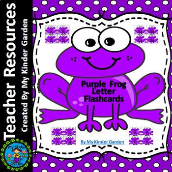 Purple Frog Alphabet Letter Flashcards