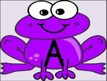 Purple Frog Alphabet Letter Posters / Word Wall Headers