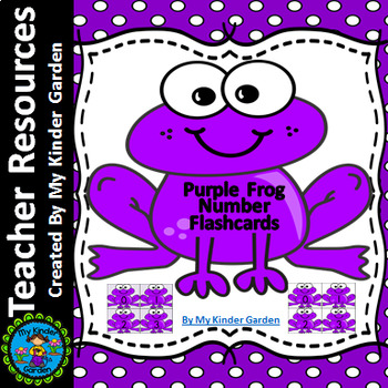 Purple Frog Math Number Flashcards 0-100
