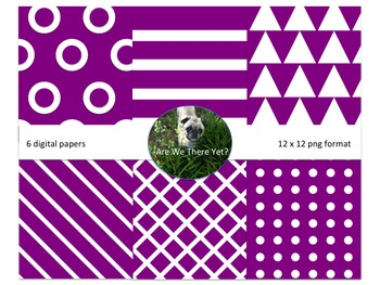 Purple Fun Digital Papers