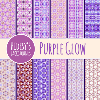 Purple Glow Backgrounds / Patterns / Digital Papers Clip Art Commercial Use