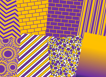 Purple & Gold Digital Papers (LSU Team Colors)