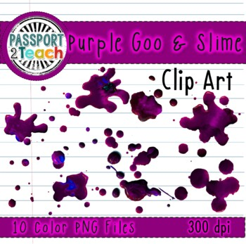 Purple Goo and Slime Clip Art for Commercial Use