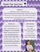 Purple Gradient Chevron Meet The Teacher Template **Editable**