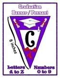 Purple Graduation Pennant Banner Set - Write any Message -