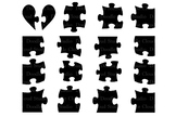 Jigsaw Puzzle svg, puzzle piece svg files for Silhouette C