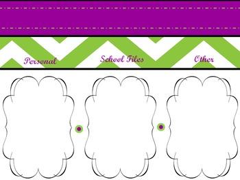 Purple & Green Chevron Desktop Wallpaper!