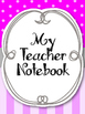 Purple & Grey Teacher Notebook. Planner Arc Notebook. Bind
